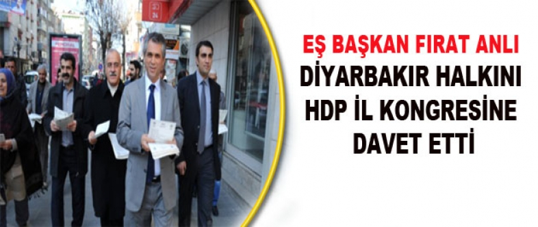 Anlı, Halkı HDP İl Kongresi'ne Davet Etti