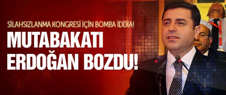 Demirtaş'tan silahsızlanma kongresi bombası!