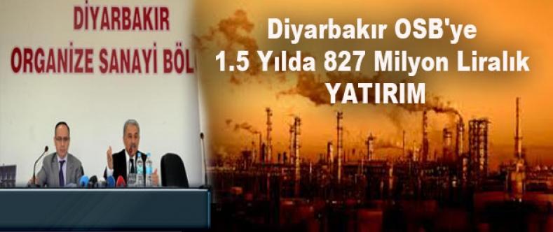 Diyarbakır Osb'ye 1.5 Yılda 827 Milyon Liralık Yatırım