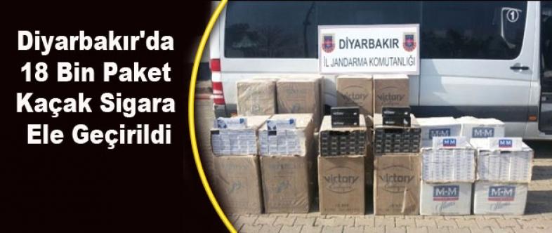 Diyarbakır'da 18 Bin Paket Kaçak Sigara Ele Geçirildi