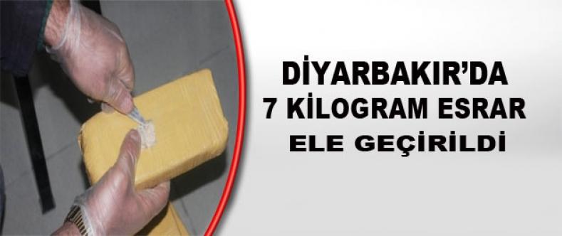 Diyarbakır'da 7 Kilogram Esrar Ele Geçirildi