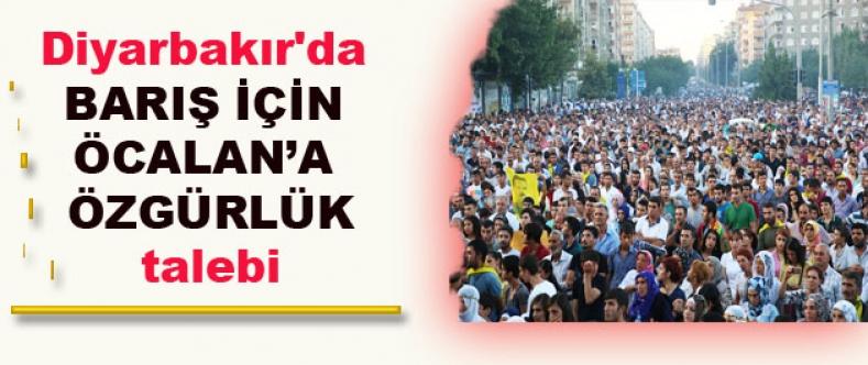 Diyarbakır'da barış için Öcalan'a özgürlük talebi