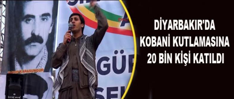Diyarbakır'da Kobani Kutlamasına 20 Bin Kişi Katıldı