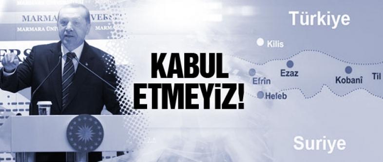 Erdoğan'dan Kobani açıklaması:Kabul etmeyiz