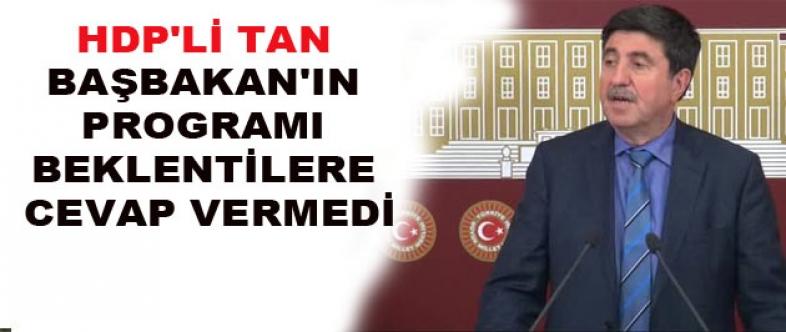 Hdp'li Tan Başbakan'ın Diyarbakır Programı Beklentilere Cevap Vermedi