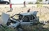 Lastiği Patlayan Otomobil Şarampole Uçtu: 8 Yaralı
