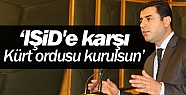 Demirtaş'tan IŞİD'e karşı Kürt ordusu...