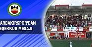 Diyarbakırspor'dan Teşekkür Mesajı