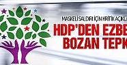 HDP'den Diyarbakır'daki saldırı için...