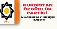 Kürdistan Özgürlük Partisi Diyarbakır'da...