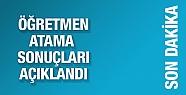 Öğretmen atama sonuçları 2016 MEBBİS...
