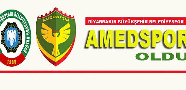 Diyarbakır Büyükşehir Belediyespor, Amedspor Oldu