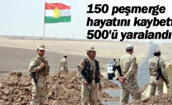 150 peşmerge hayatını kaybetti, 500'ü yaralandı