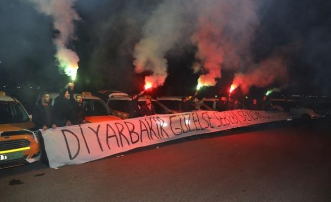 Diyarbakırlı Taksici esnafından Cumali Atilla'ya destek