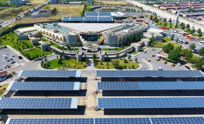 Sümerpark ve Terminal'de kurulu Güneş enerjisinden 1 Milyon 153 Bin TL gelir