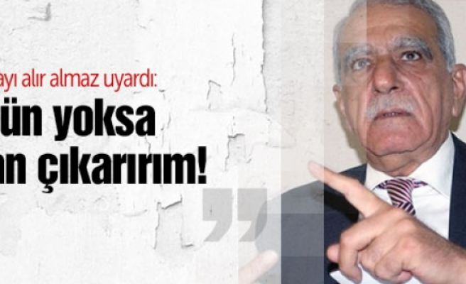 Ahmet Türk'ten Şok sözler: Çözülmezse isyan çıkarırım!