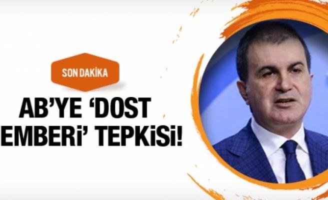 AK Parti'den AB'ye 'dost çemberi' tepkisi!