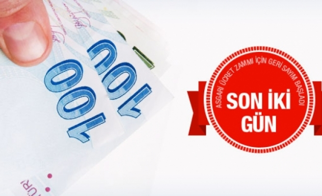 Asgari ücret zammı 2016 için son 2 gün!