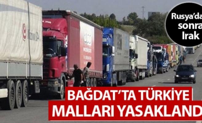 Bağdat, Türkiye ile ticareti yasakladı