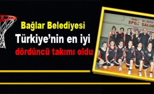 Bağlar Belediyesi Türkiye'nin en iyi dördüncü takımı oldu