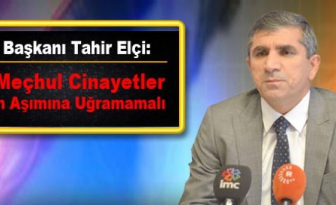 Baro Başkanı Elçi: Faili Meçhul Cinayetler Zaman Aşımına Uğramamalı