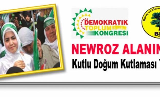 BDP, Newroz Alanında Kutlu Doğum Kutlaması Yapacak