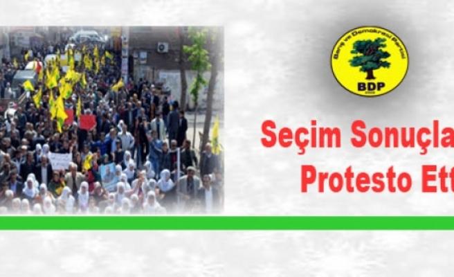 BDP'den Seçim Sonuçlarına Protesto Yürüyüşü