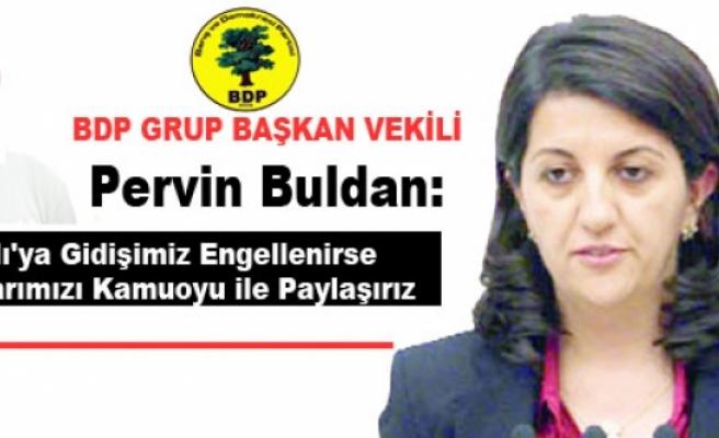 BDP'li Buldan: İmralı'ya Gidişimiz Engellenirse Kaygılarımızı Kamuoyu ile Paylaşırız