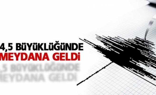 Bingöl'de 4,5 büyüklüğünde deprem