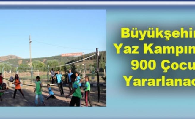 Büyükşehir'in Yaz Kampından 900 Çocuk Yararlanacak