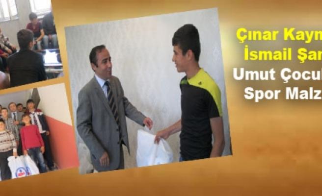Çınar Kaymakamı İsmail Şanlı'dan Umut Çocuklarına Spor Malzemesi