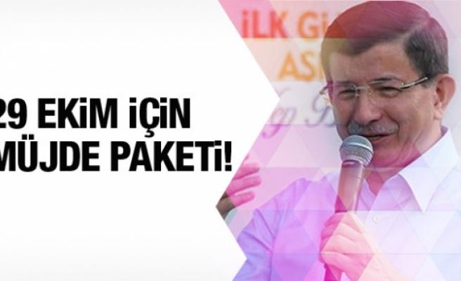 Davutoğlu, Cumhuriyet Bayramı Müjde Paketi'ni açıkladı