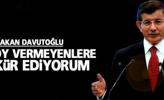 Davutoğlu: HDP'ye oy vermeyenlere teşekkür ediyorum