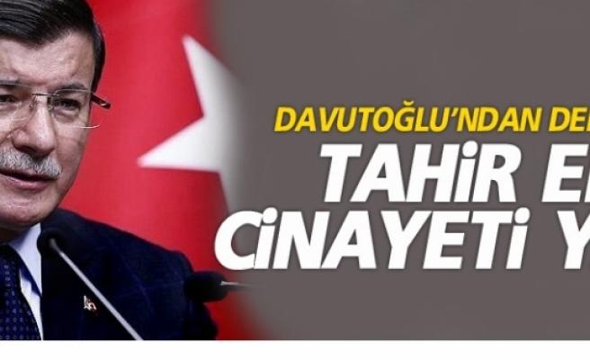 Davutoğlu'ndan Demirtaş'a Tahir Elçi Cinayeti Yanıtı