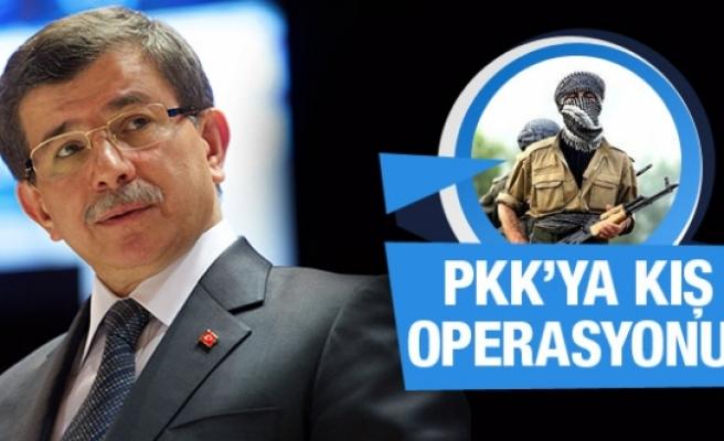 Davutoğlu'ndan PKK için kış operasyonu talimatı!