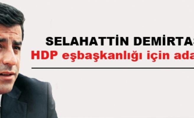 Demirtaş: HDP eşbaşkanlığı için adayım