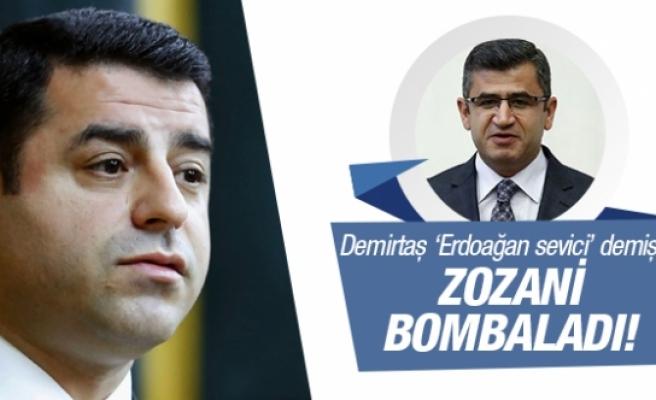 Demirtaş'ın 'Erdoğan sevici' dediği Adil Zozani bombaladı!