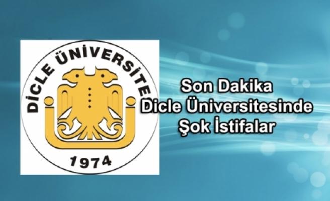 Dicle Üniversitesinde Şok İstifalar