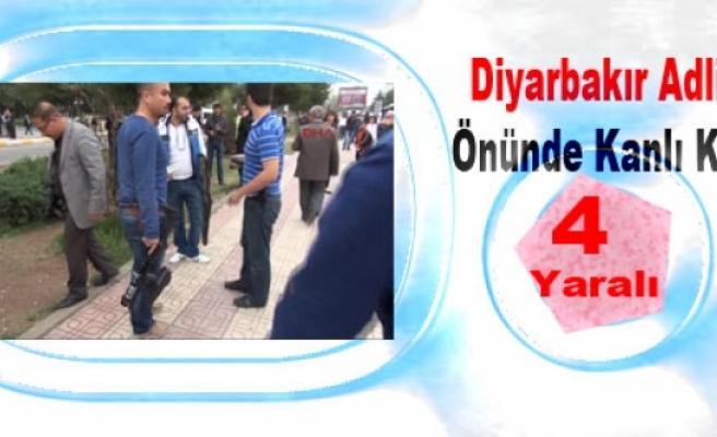 Diyarbakır Adliyesi Önünde Kanlı Kavga: 4 Yaralı