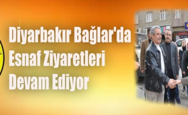Diyarbakır Bağlar'da Esnaf Ziyaretleri Devam Ediyor