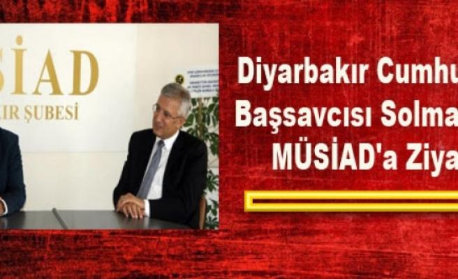 Diyarbakır Cumhuriyet Başsavcısı Solmaz'dan MÜSİAD'a Ziyaret