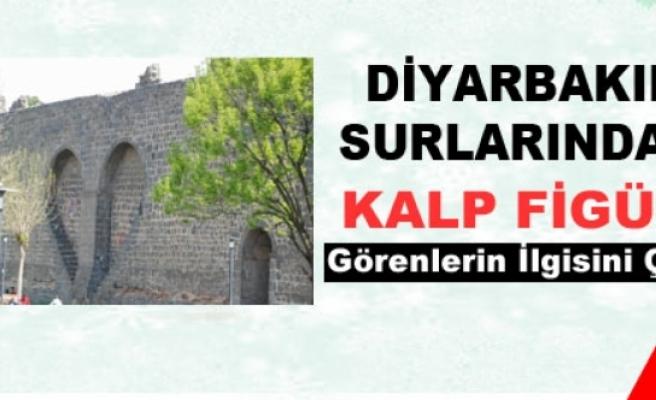 Diyarbakır Surlarındaki Kalp Figürü Görenlerin İlgisini Çekiyor