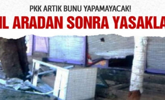 Diyarbakır'da 15 yıl aradan sonra gelen yasak!