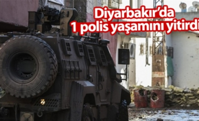 Diyarbakır'da 1 polis yaşamını yitirdi