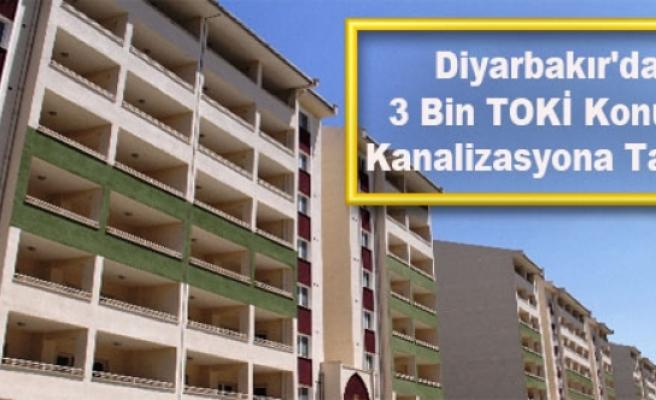 Diyarbakır'da 3 Bin TOKİ Konutu Kanalizasyona Takıldı