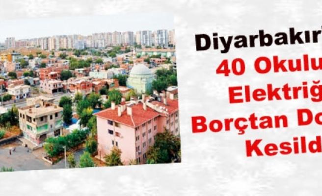 Diyarbakır'da 40 Okulun Elektriği Borçtan Dolayı Kesildi