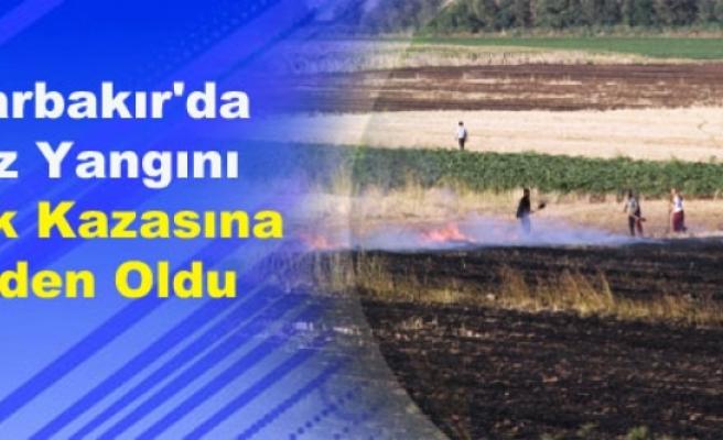 Diyarbakır'da Anız Yangını Trafik Kazasına Neden Oldu