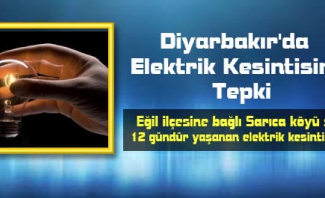 Diyarbakır'da Elektrik Kesintisine Tepki