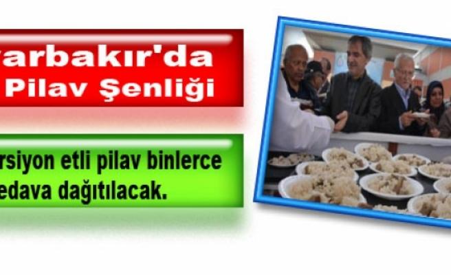 Diyarbakır'da Etli Pilav Şenliği