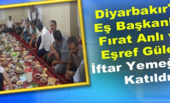 Diyarbakır'da Fırat Anlı ve Eşref Güler, İftar Yemeğine Katıldı